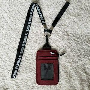 PINK Victoria's Secret Bags - VS PINK LANYARD ID holder